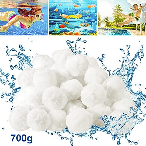 Bearbro Filter Balls 700g ersetzen 25 kg Filtersand,Pool Filterbälle,Extra langlebige,Umweltfreundlicher,für Pool, Sandfilteranlagen,Aquarium