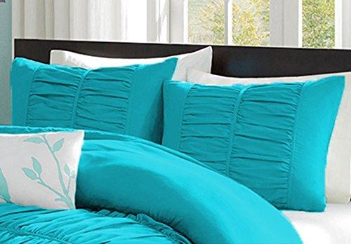 Bedding Attire Juego de 2 fundas de almohada de algodón egipcio macizo de 600 hilos, 50 x 75 cm, color turquesa