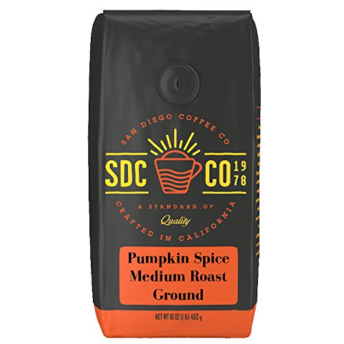 San Diego Coffee Pumpkin Spice, Medium Roast, Ground, 16-Ounce Bag