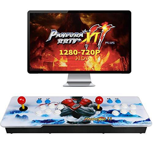 Best brose 2706 Classic Arcade Game Machine 2 Players Pandoras Box 11 1280x720 Full HD Video Game Console with Arcade Joystick Support HDMI VGA Output (Black&White) (Black)