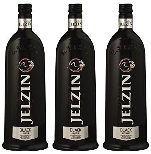 Jelzin Vodka Black Likör (3 x 0.7 l)