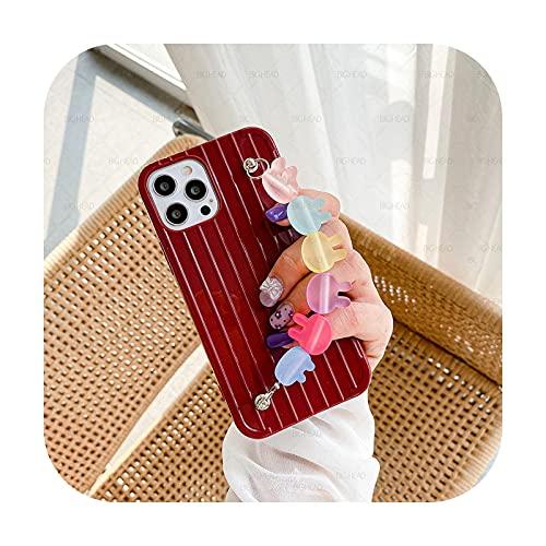 So Cute Colorful Bunny Head Bracelet Soft Candy TPU Phone Case for Huawei P40 Lite E P30 P20 Pro Mate 30 Pro 10 20 Lite Cover-6-Huawei P20