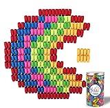 Habbi 450pcs Eraser Caps, Pencil Top Erasers, Pencil Cap Erasers, Eraser Tops, color Penci...