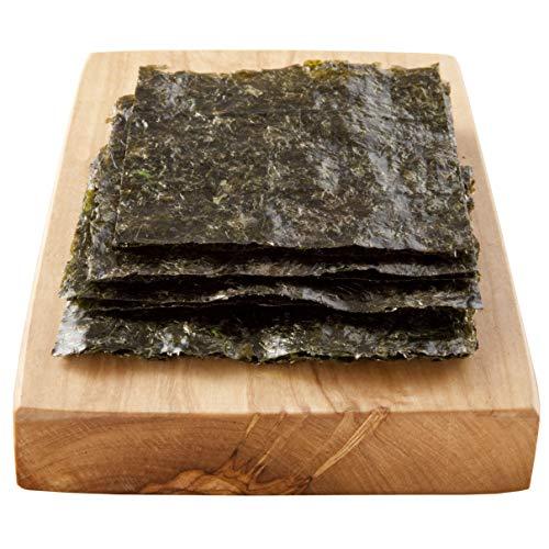 Reishunger Nori Algenblätter für Maki Sushi, Gold-Qualität, 140 g, 50er Pack [als 10er, 50er und 100er Packung erhältlich]