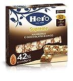 Hero Barrette ai Cereali Supreme Mandorle Cioccolato Bianco - Confezione da 4 x 24 gr - To...