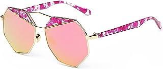 Gafas de sol unisex Gafas de sol de polígono para mujer Gafas de sol polarizadas de marco de metal irregular Gafas de sol ribeteadas Protección UV Gafas de sol de personalidad para la conducción par