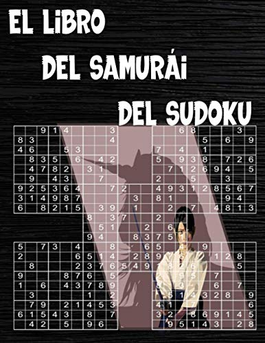 El Libro Del Samurái Del Sudoku: 120 Sudokus Samurai rompecabezas para adultos, Con soluciones