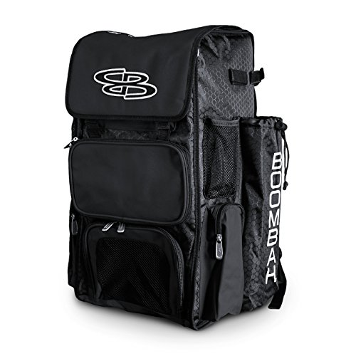 Boombah Superpack Bat Pack -Backpack Version (no Wheels) - Holds up to 4 Bats - Black - for Baseball...