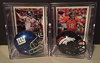 Peyton Manning and Eli Manning Brothers in Arm NFL Helmet Shadowbox set