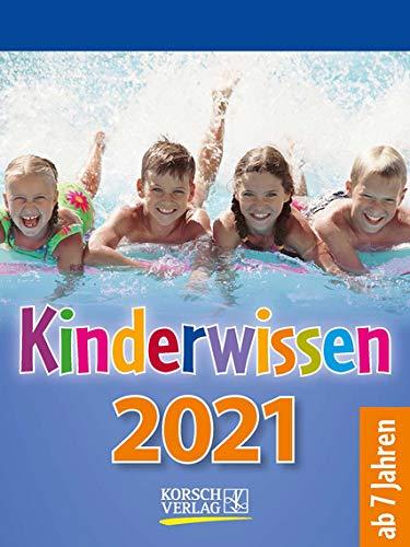 Kinderwissen - Kalender 2021 - Korsch-Verlag - Tagesabreisskalender mit spannenden Geschichten und Fakten für Kinder- Mondplaner - 11,8 cm x 15,8 cm