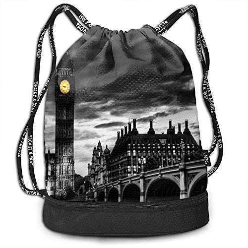 Mochilas con cordón Bolsas Big Ben Sports Gym Sackpack Tote Travel Mochila