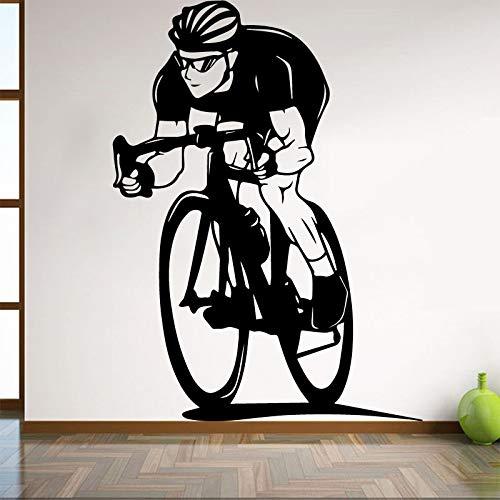Pegatinas de pared de bicicleta para interiores, habitación de niños, sala de estar, pegatinas para bicicletas, dormitorio, estudio, Club, arte, Mural A3 30x41cm