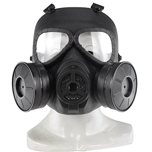 Paintball Maske Tactical Airsoft Spiel Vollgesichtsschutz Schutzmaske Schutz Schädel Paintball Goggles Gear Mit Doppel Filter Fan UV-Proof