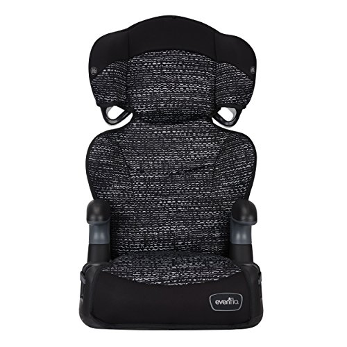 Evenflo Big Kid AMP High Back Booster Car Seat, Static Black