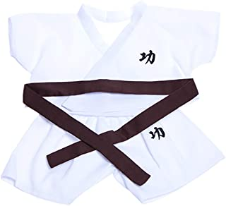 """Karate w/5 Color Belts Outfit Teddy Bear Clothes Fit 14"""" - 18"""" Build-A-Bear, Vermont Teddy Bears, and Make Your Own Stuffed Animals"""