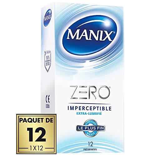 MANIX ZERO Kondome unspürbar extra schmierend - Ultra dünn und extra geschmiert - 12er Pack