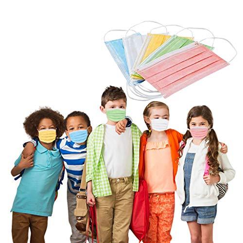 GoldPang 10/20/30/50 Stück Mundschutz Kinder Einweg 3-lagig Niedlich Drucken Face Atmungsaktiv Mund und Nasenschutz Jungen Mädchen Kinder Mundschutz
