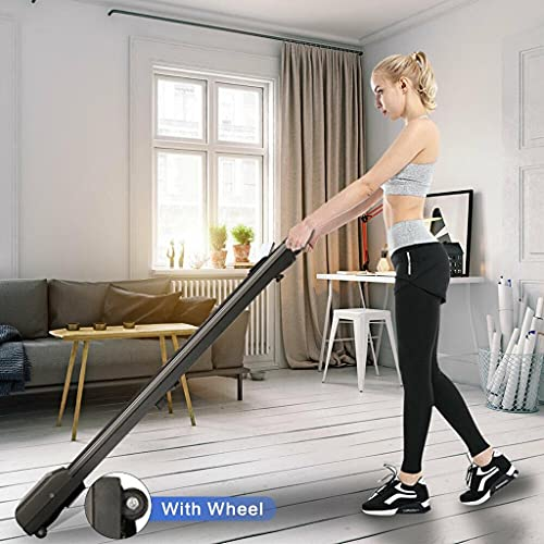 Motorised Treadmill, Portable Walking Running Pad Under Desk Electric Treadmill Walking Machine with Remote Control and LED Display Electric Motorised Folding Running Machine for Home Use GYM