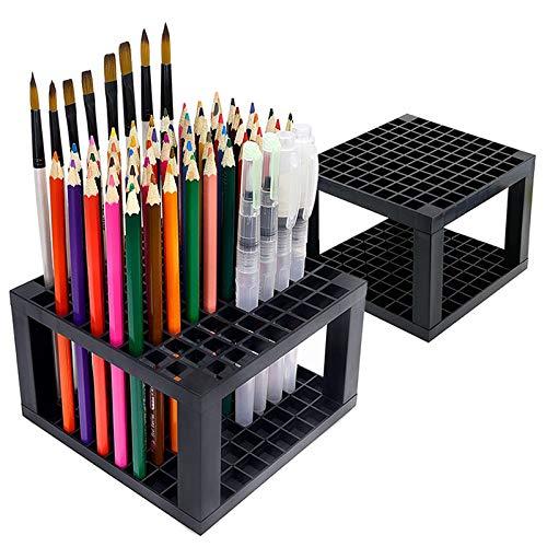 bobotron 96 llaves portalápices de escritorio St?Ndiger Organizador, perfecto para bolígrafo/lápiz, pinceles, bolígrafos de gel y más (2 paquetes)