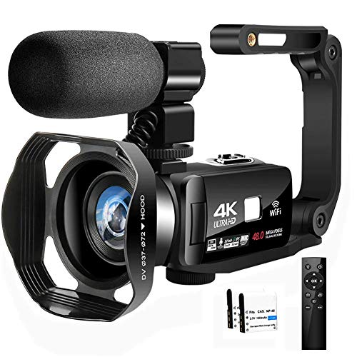 Videokamera 4K Camcorder IR Nachtsicht Camcorder 48.0MP Vlogging Kamera für YouTube 3.0
