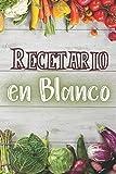 Recetario en blanco: Práctico diario para anotar recetas | Cuaderno para los entusiastas de la cocina, la repostería o los postres | Cuaderno de pequeño formato con tarjetas y espacio para fotos