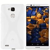 mumbi Hülle kompatibel mit Huawei Ascend Mate 7 Handy Hülle Handyhülle, transparent Weiss