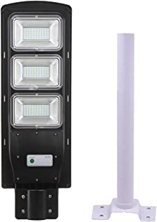 Andoer 60W/90W LEDs Solar Powered Street Light PIR Motion Sensor Wall Lamp Mounting Extension Pole Bracket Outdoor IP67 Wa...