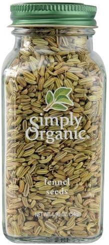 Simply Organic half Fennel Seeds - oz pc Seattle Mall 2 1.9