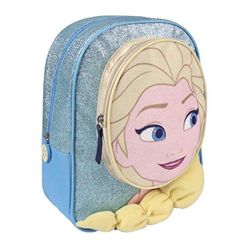 Cerdá 2100002207, Zaino infantile con personaggio 3D Elsa di Frozen, Bambina, Blu (azul), 28 cm