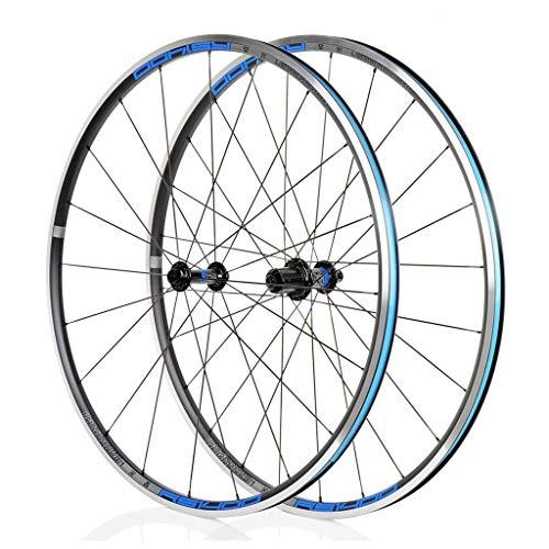 LBBL Ruedas Bicicleta, 700C Wheels C Freno Anillo Clip 8 9 10 11 Velocidad 44 Agujeros Rueda Aro Aluminio Liberación Rápida Ligera Y Resistente A La Torsión (Color : D, Size : 26inch)