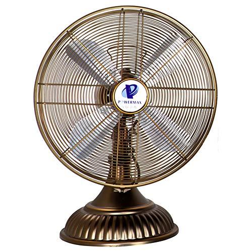 LNFA 16In Ventilador de Mesa oscilante Ventilador de circulación de Aire de 3 velocidades, Cobre Cepillado (2 Estilo)