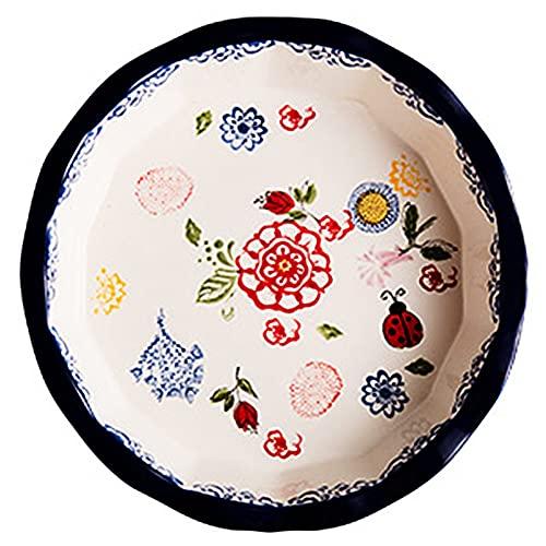 Plato De Cerámica Pizza Arroz Al Horno con Queso Pastel De Estilo Nórdico Fruta Sala De Estar Hogar Creativo Vajilla Personalizada