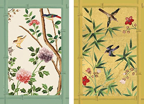 Caspari Chinese Wallpaper Playing Cards, Multi-Colour, Set of 2