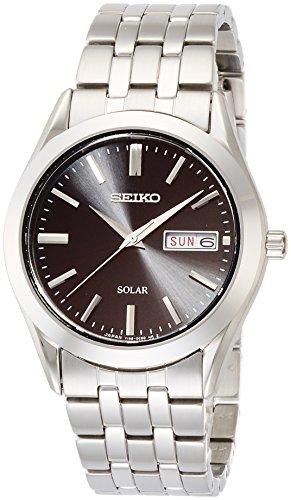 [セイコーウォッチ] 腕時計 セイコー セレクション ソーラー ブラック文字盤 サファイアガラス 日付・曜日表記 SBPX083 メンズ シルバー