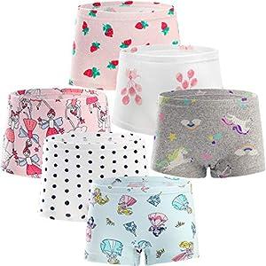 Adorel Braguitas Bóxer Ropa Interior para Niñas Paquete de 6 Fresa y Princesa 11-12 Años (Tamaño del Fabricante 150)