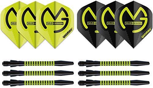 Dartflights und Shafts Michael van Gerwen, Standard, 4 flights / 4 stems, medium - 48mm