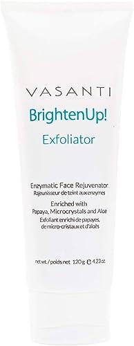 VASANTI Brighten Up! Enzymatic Face Rejuvenator (120g) - Oil-Free Deep Pore Cleansing Exfoliator Paraben-Free Vegan F...