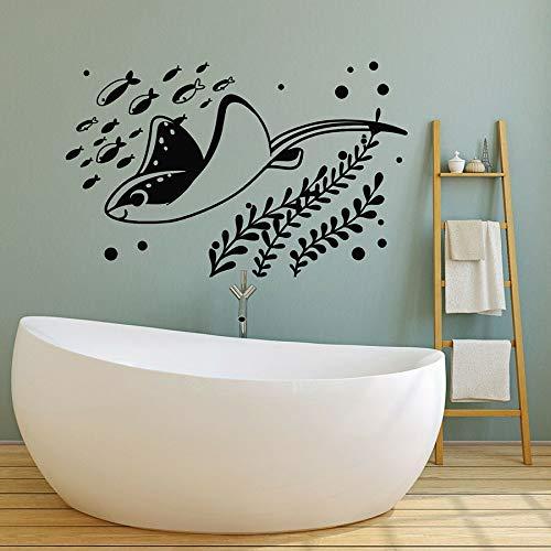 Tianpengyuanshuai fotobehang vis aquarium marine stijl kinderen hoofddecoratie slaapkamer badkamer kindertuin vinyl raamsticker