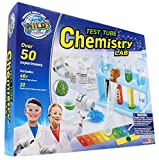 WILD! Science - WS90XL Test Tube Chemistry Lab - 50+ Fun Experiments and Reactions for Kids Aged 8+ - Explore STEM - Learn About Solids, Liquids, Gases and More!