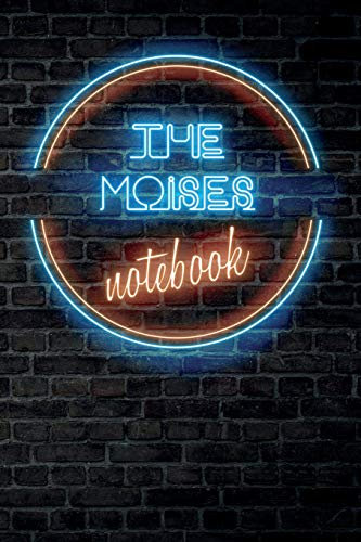 The MOISES Notebook: Vintage Blank Ruled Personalized & Custom Neon Sign Name Dotted Notebook Journal for Boys & Men. Wall Background. Funny Desk ... Supplies, Birthday, Christmas Gift for Me
