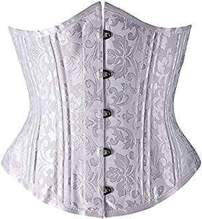 SYMG Europe and The United States Court Corset Waist Clip, Double Steel, Ladies Short Body Sculpting, Wedding Dress Bottoming Waist Seal shapewear women (Size : 6XL)