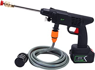 Limpiadoras a presión Lavadora a Presión Inalámbrica Portátil Pistola de Agua para Coche de Alta Presión Motor de Cobre 21...
