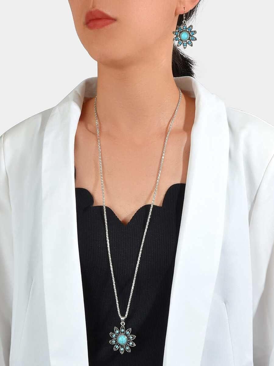 ZHAWE Women's Jewelry Set Series Decor Charm Rhinestone New mail order Directly managed store Flower N