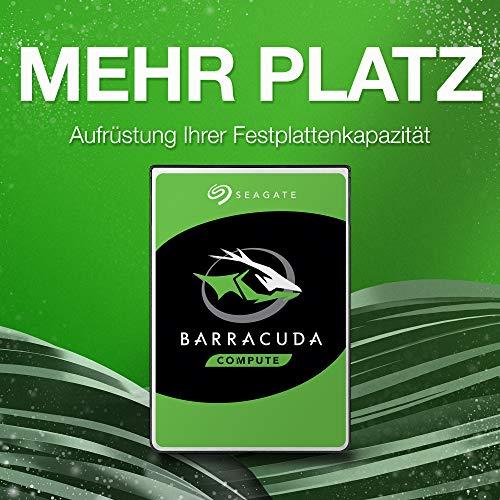 Seagate Barracuda, interne Festplatte 2 TB, 3.5 Zoll, 7200 u/min, 256 MB Cache, SATA 6 Gb/s, silber, Bulk, Modellnr.: ST2000DM008