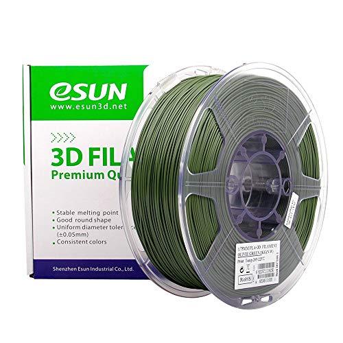 eSun PLA+ - Filamento per stampante 3D, 1,75 mm, 1 kg, verde oliva