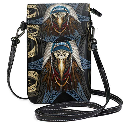 XCNGG Native American Cell Phone Purse Wallet for Women Girl Small Crossbody Purse Bags