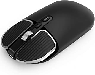 MIUSI [2020 NEW] Bluetooth 5.1 2.4G Dual Mode Wireless Rechargeable Mouse, Slim Silent Click Mice, up to 1600DPI Portable ...