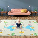 Baby Play Mat, 200 x 180 x 1.5cm High-Protection Foam Playmat for Baby Floor Play, Baby Crawling Mat Large Soft Thick Baby Mat, Water-Proof Reversible Floor mat for Babies