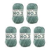 myboshi No.2-Wolle zum Häkeln/Stricken, mit Kapok, vegane Wolle, 60 Grad waschbar, speichelechte Sommerwolle, für Baby und Amigurumi, Ökotex-Zertifiziert, 5 knl x 50gr, Ll 100m Limettengrün 500m