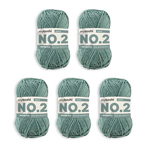 myboshi Woll-Modell: No.2, mit Kapok, 5er Pack Limettengrün